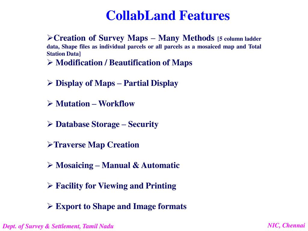 CollabLand Land Records Map (FMB) Software Department of Survey