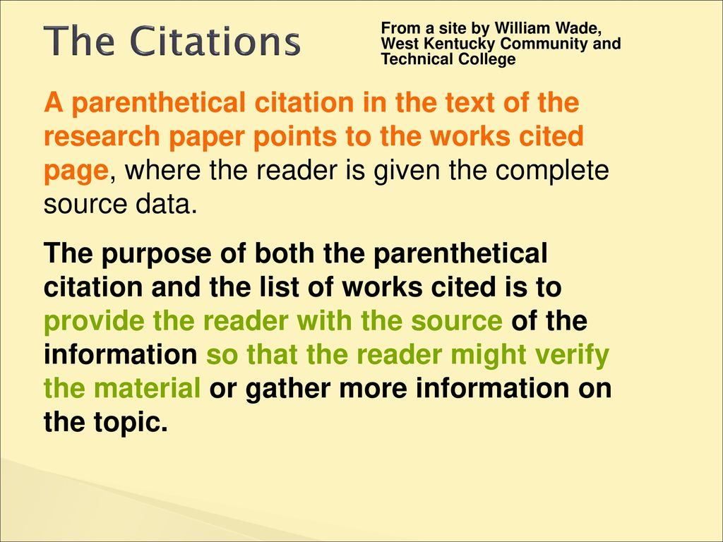how to cite a definition in an essay