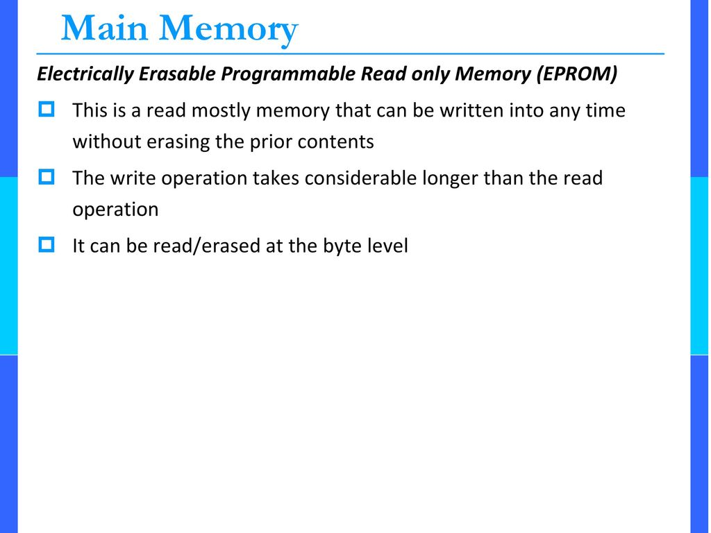 Memory Ppt Download Erasable Programmable Readonly Integrated Circuits These Main Electrically Read Only Eprom