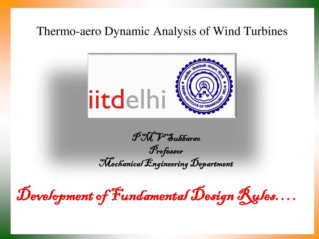 Thermo Aero Dynamic Analysis Of Wind Turbines Ppt Download Power Turbine Diagram
