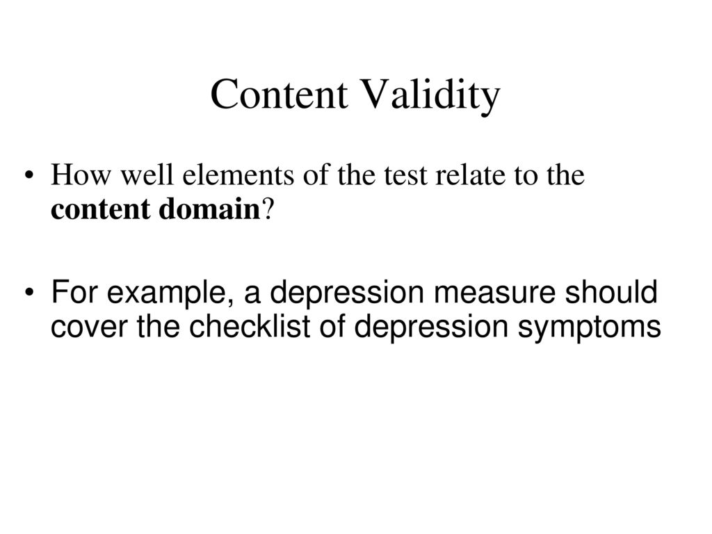 Reliability And Validity Ppt Download
