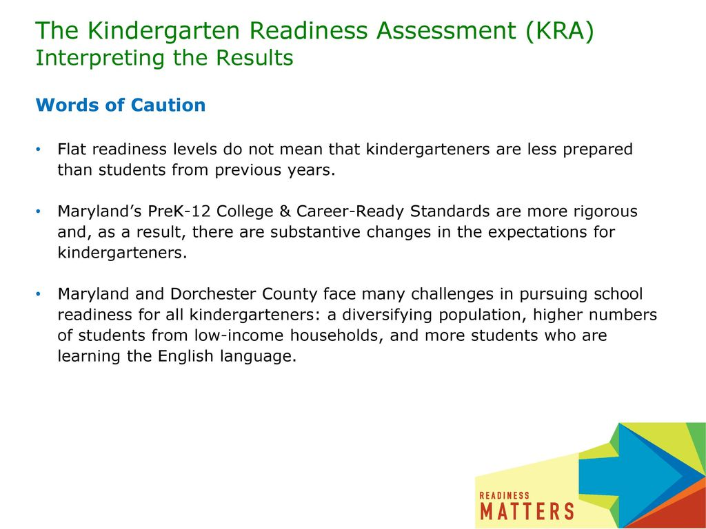 The Kindergarten Readiness Assessment (KRA) Interpreting the Results