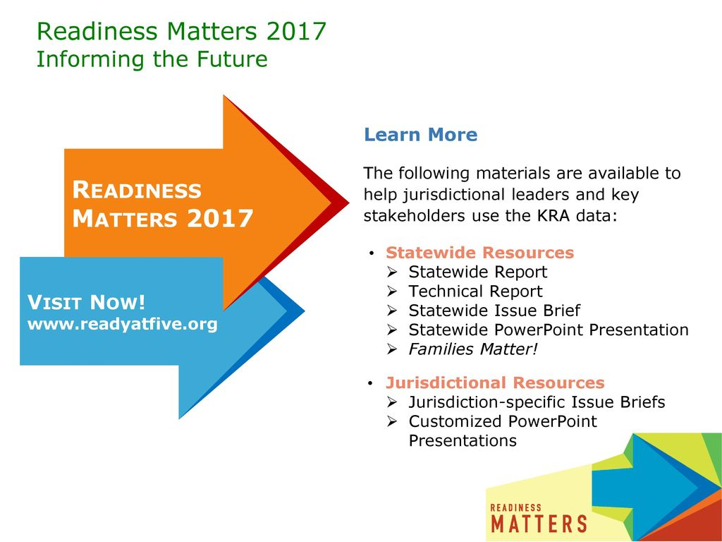 Readiness Matters 2017 Informing the Future