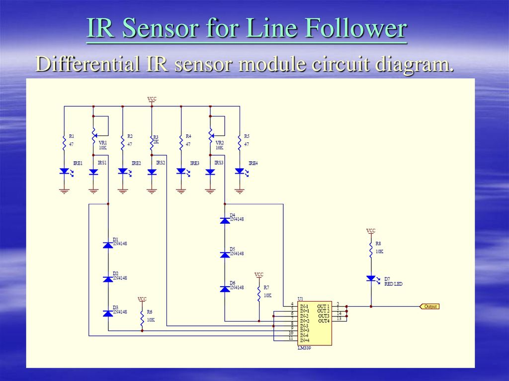 Ir Sensor For Line Follower Ppt Download Transistor Robot Circuitschematic