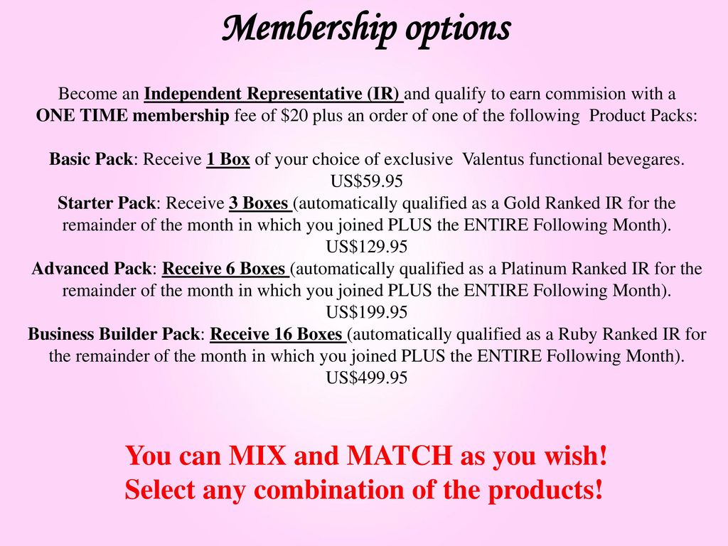 match membership options