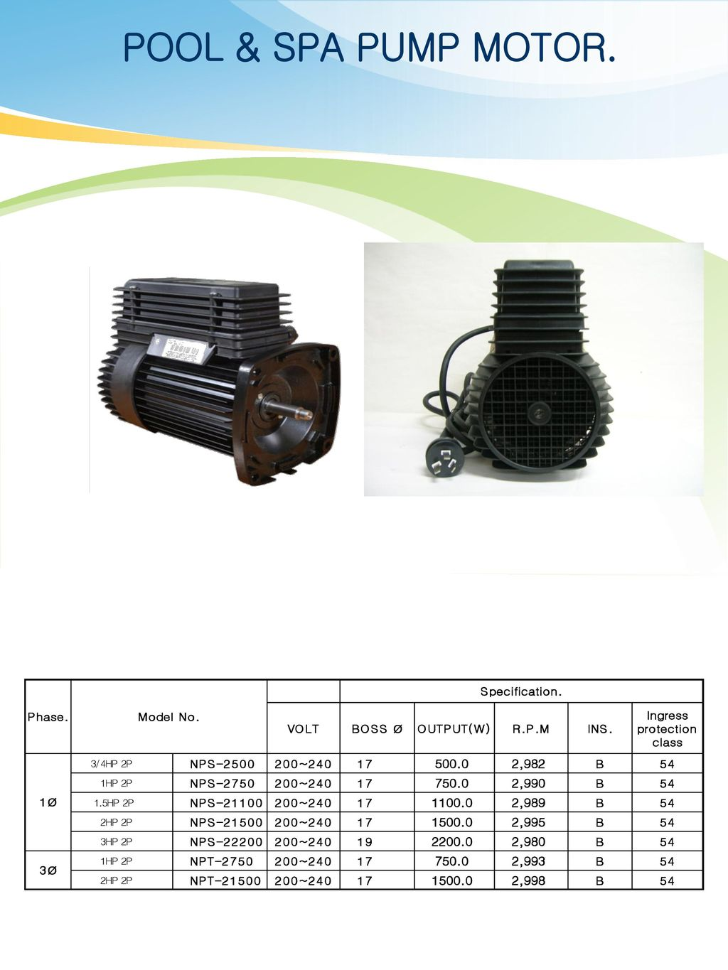 Production Product Catalog Ppt Download Spa Pump Electrical Wiring 3 Pool Motor