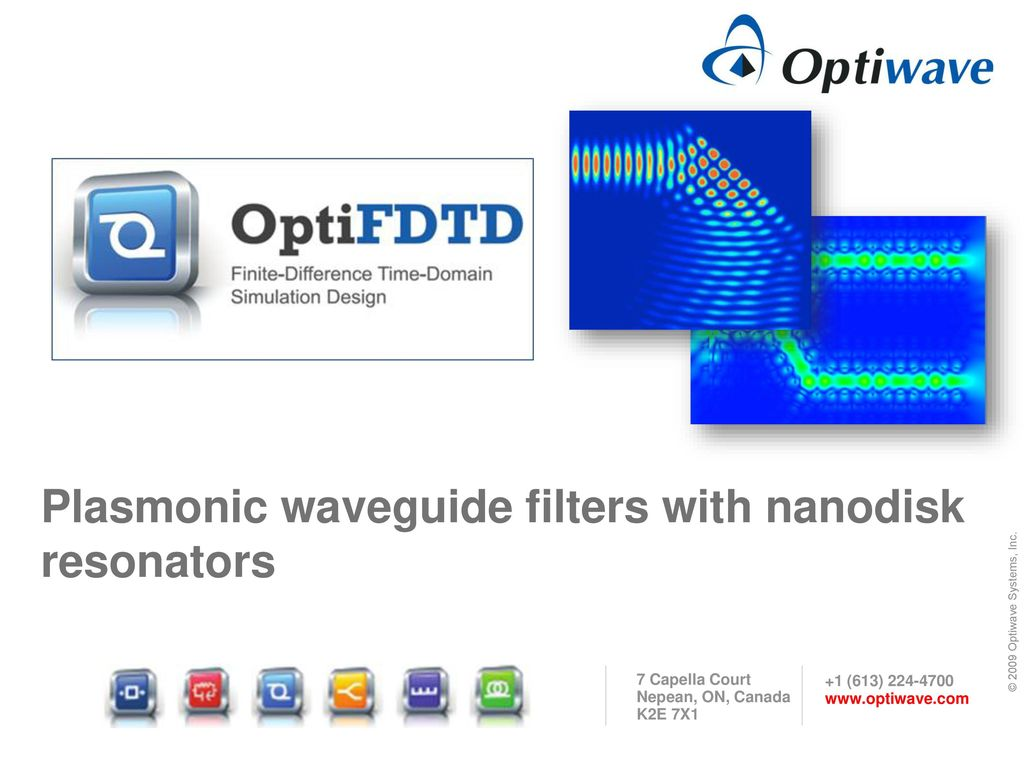 Plasmonic waveguide filters with nanodisk resonators - ppt download