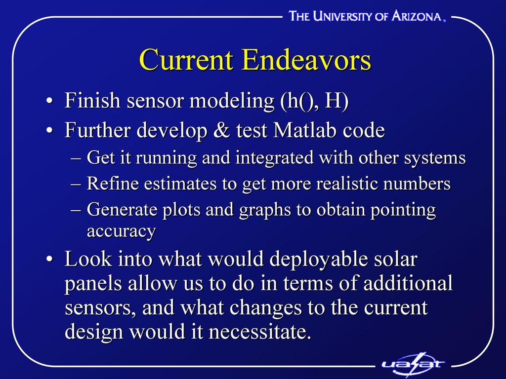 "University of Arizona Student Satellite Project ""UASat"