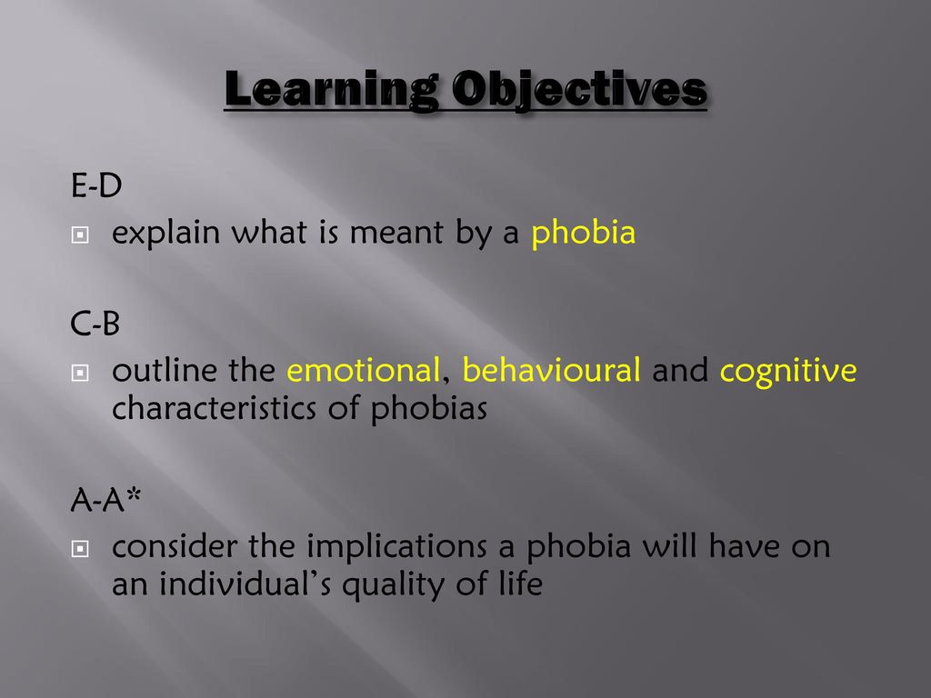 What is a phobia