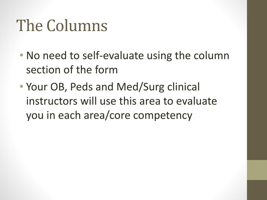 Instructions for Completing the Block 3 Clinical Evaluation