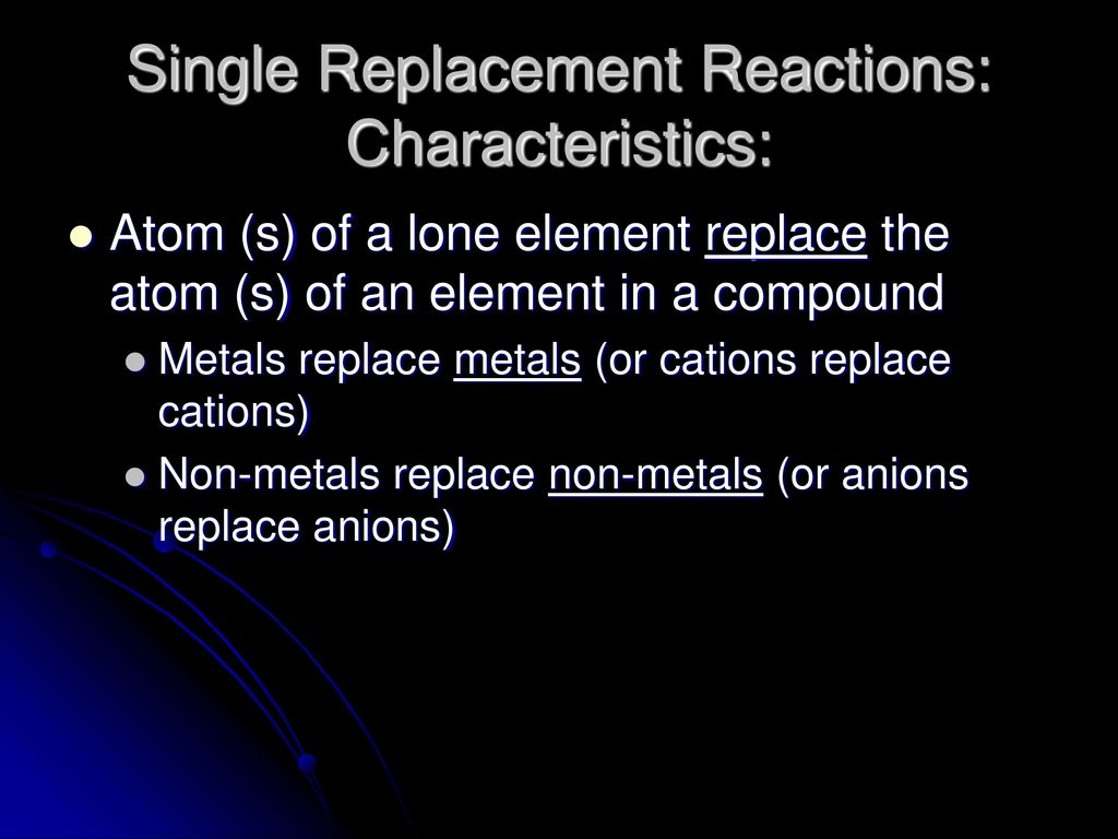 Reaction Type 2 Single Replacement Ppt Download