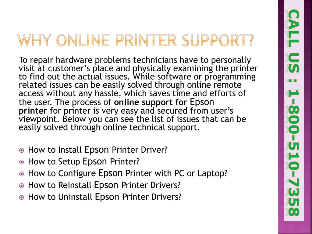 How to Set-up and Configure Epson Wireless Printer? - ppt