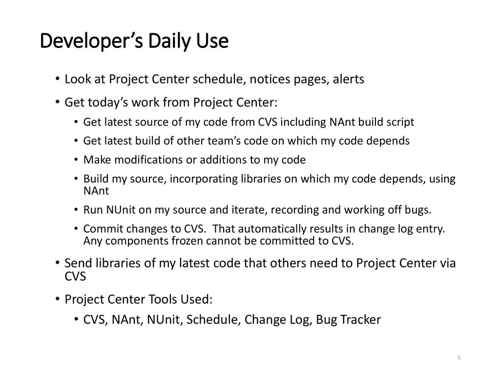 Project Center Use Cases - ppt download