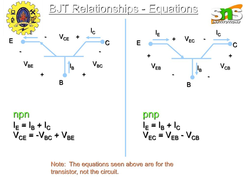 Transistor Ppt Download Npn Wiring Diagram Bjt Relationships Equations