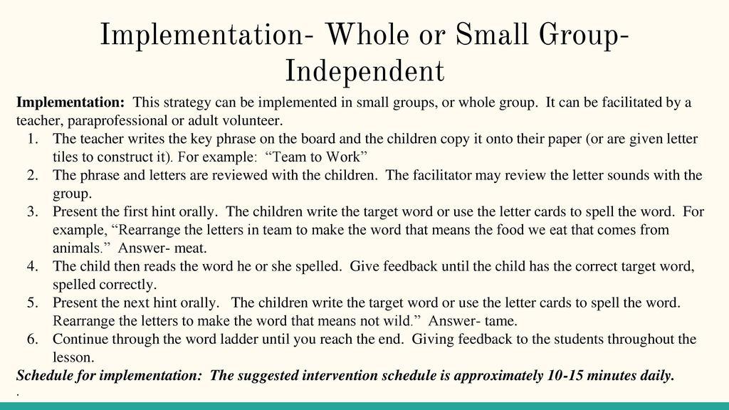 3 implementation
