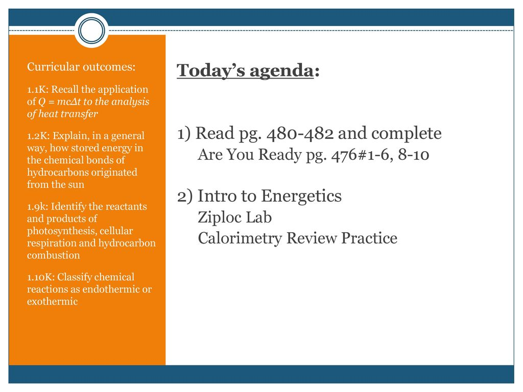 UNIT A: ENERGETICS CHAPTER ELEVEN  - ppt download