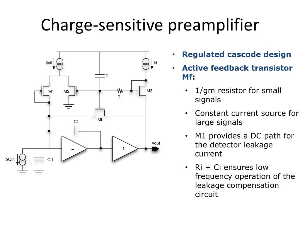 Infn Pavia University Of Bergamo Ppt Download Charge Sensitive Amplifier Circuit 11 Preamplifier
