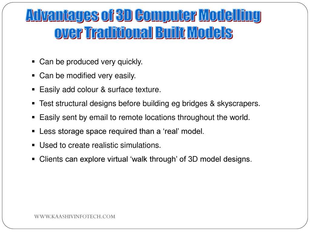 advantages of computer models
