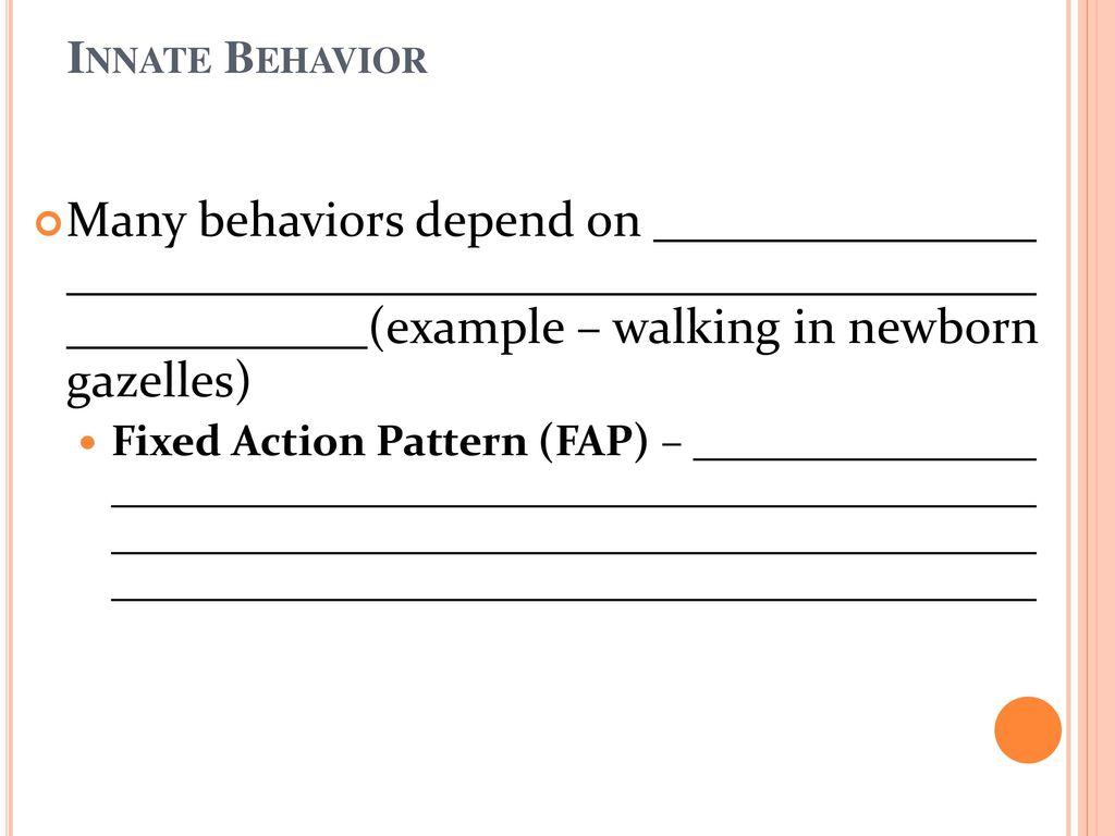 Option E E3 Innate And Learned Behavior Ppt Download