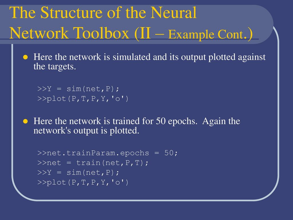 Neural Networks Toolbox - ppt download