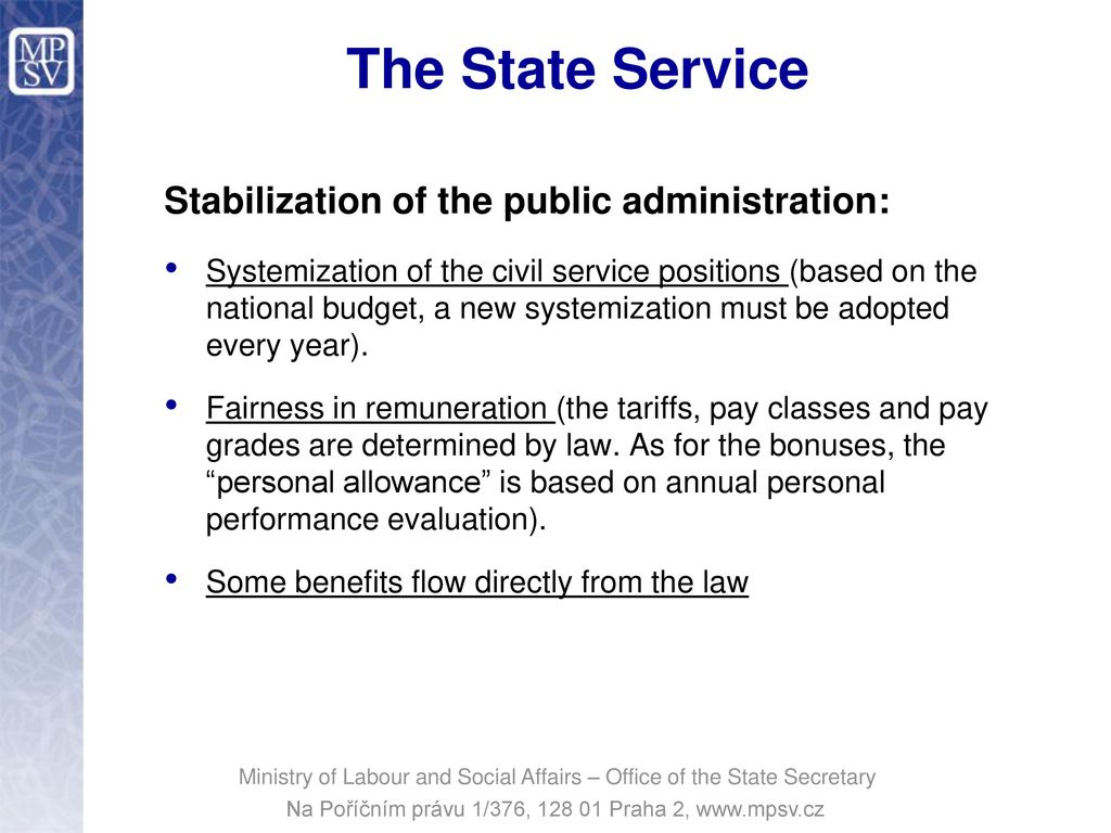 About public positions and state civil servants