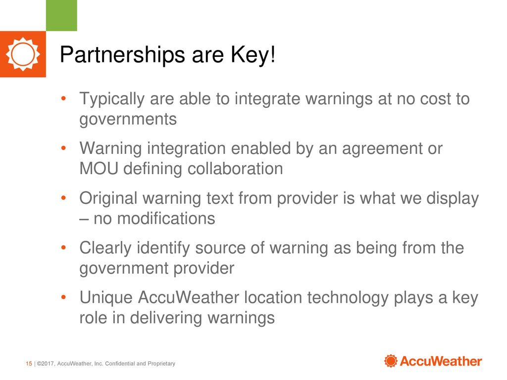Unique Partnerships to Deliver Global Extreme Weather Warnings - ppt