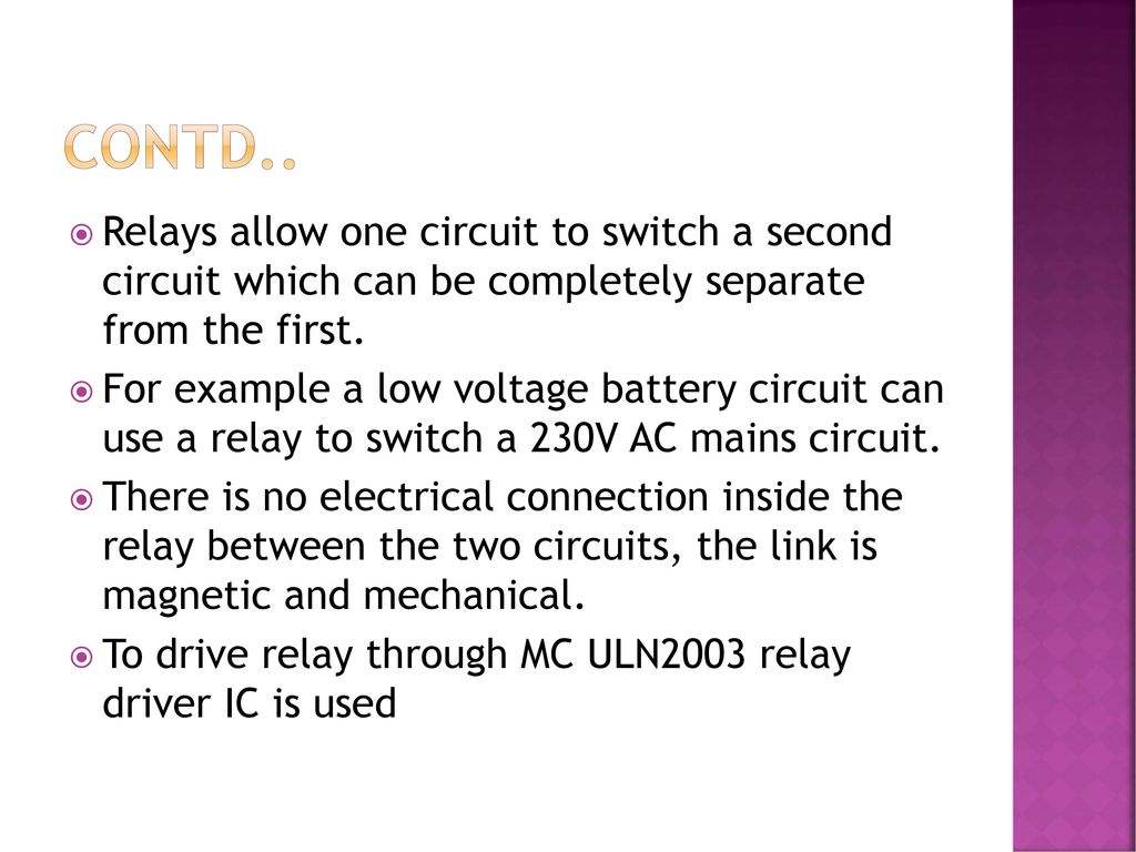 Pc Mouse Operated Electrical Load Control Using Vb Application Ppt Ic Uln2003 15 Contd