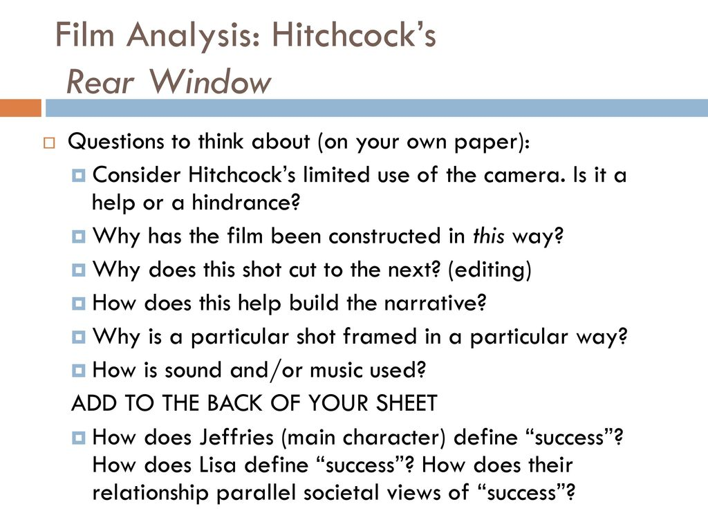 rear window analysis