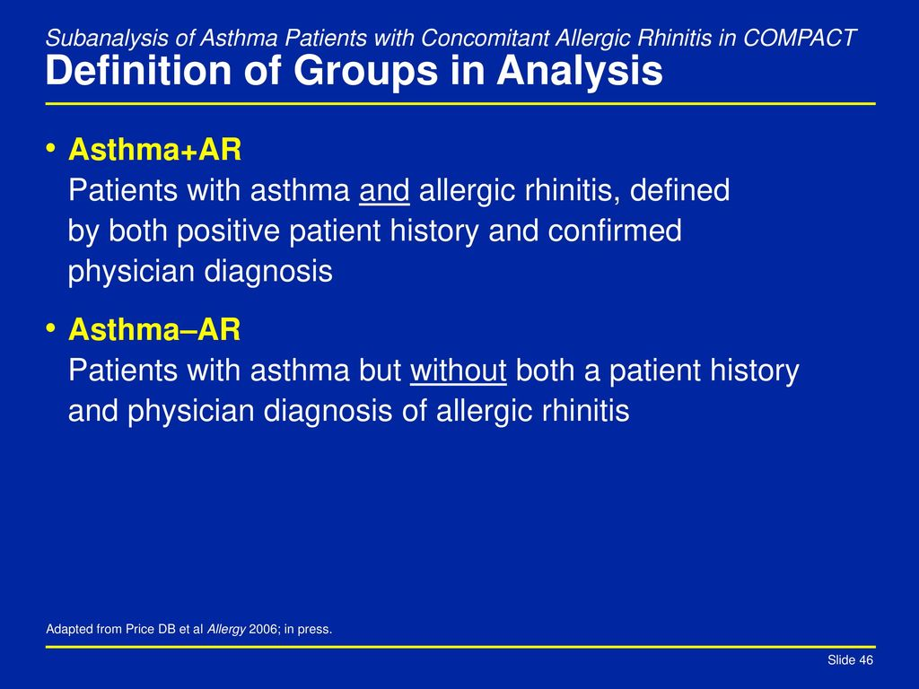 efficacy of montelukast in asthma patients with allergic rhinitis