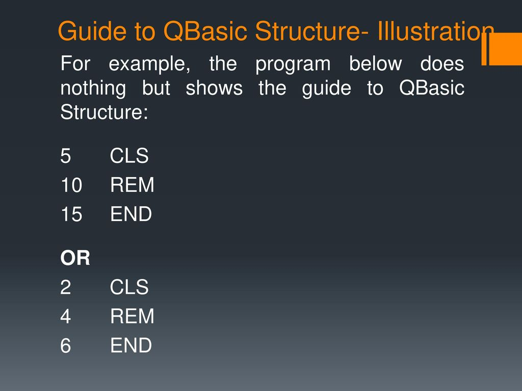 INTRO TO COMPUTER PROGRAMMING (QBasic) - ppt download