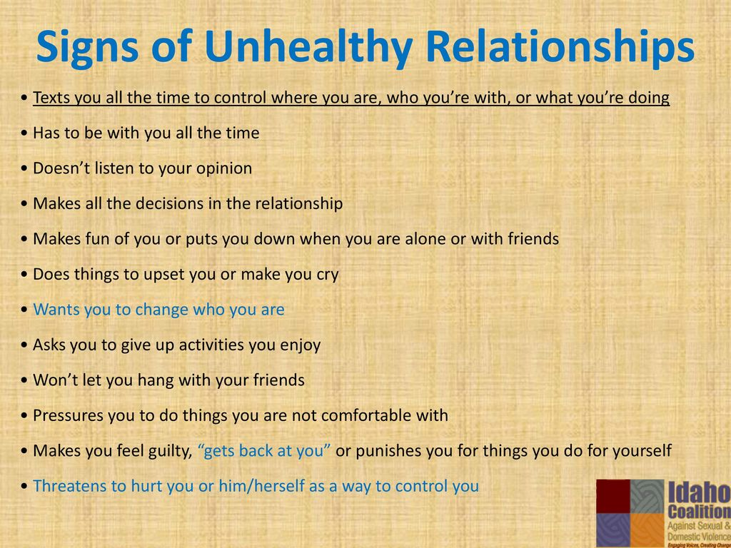 signs you re in an unhealthy relationship