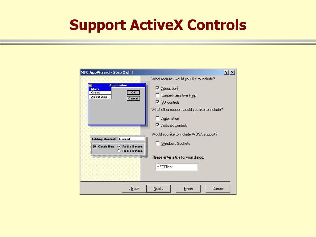 ActiveX Control Recipe - ppt download