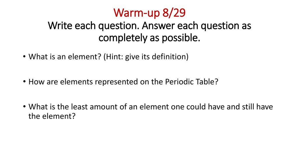 Complete The Following Instructions Before The Tardy Bell Rings