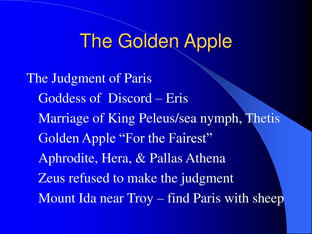 The Golden Apple The Judgment of Paris Goddess of Discord