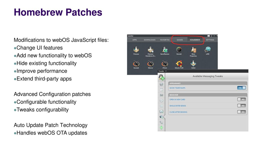 HP webOS™ Homebrew by WebOS Internals - ppt download