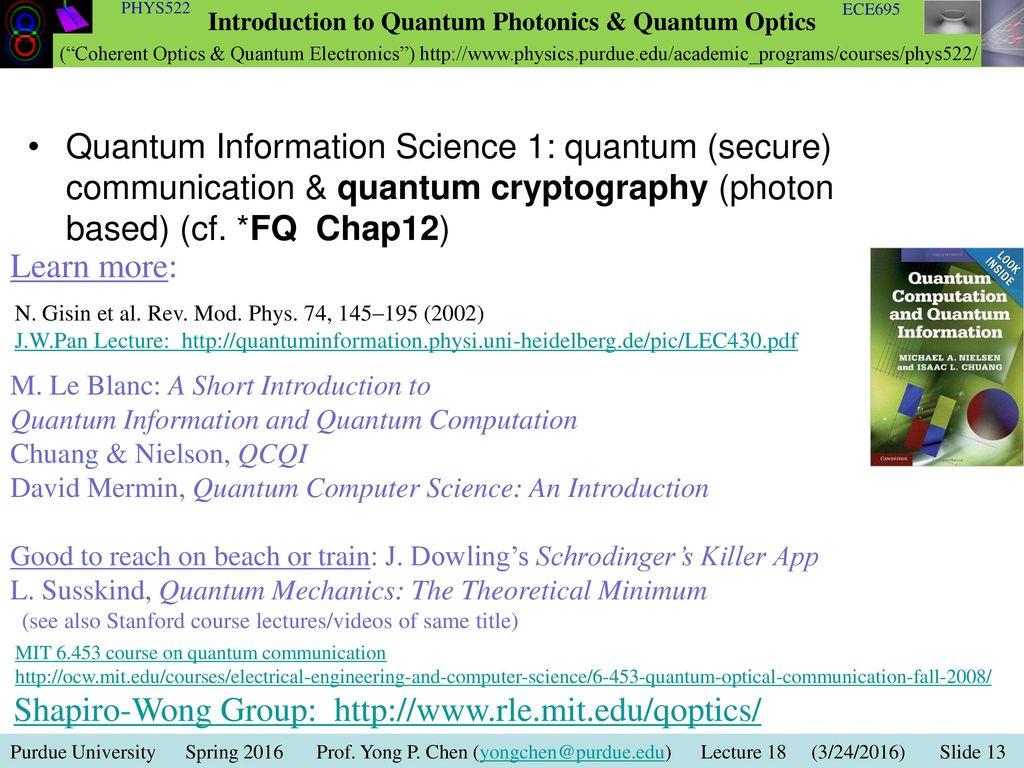 Lecture 21 Photon Statistics (detecting sub-poissoinian
