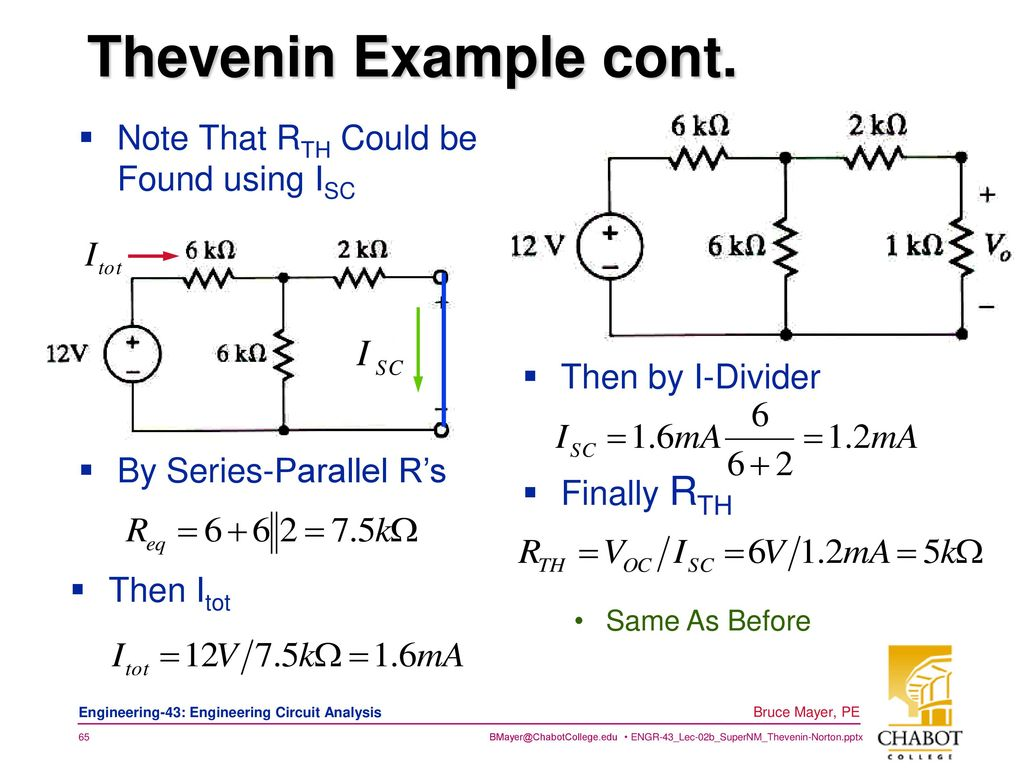 Super Node Mesh Thevnin Norton Ppt Download Thevenin Example 65