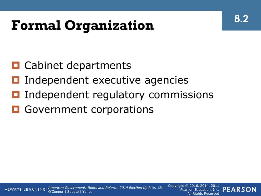8 the executive branch and the federal bureaucracy - ppt download