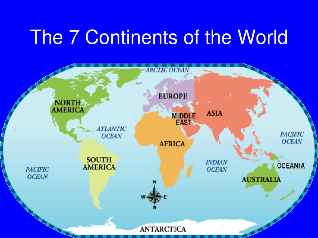 Picture of: World Continents And Oceans Ppt Download