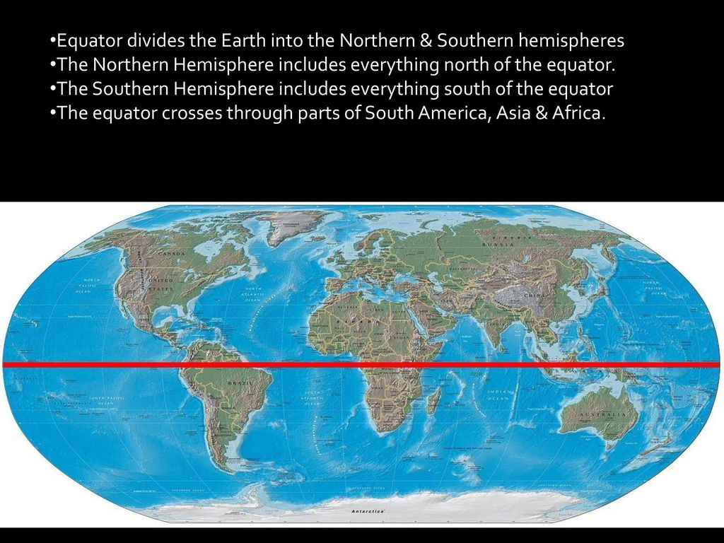 What continent crosses the equator What do we know about him 89