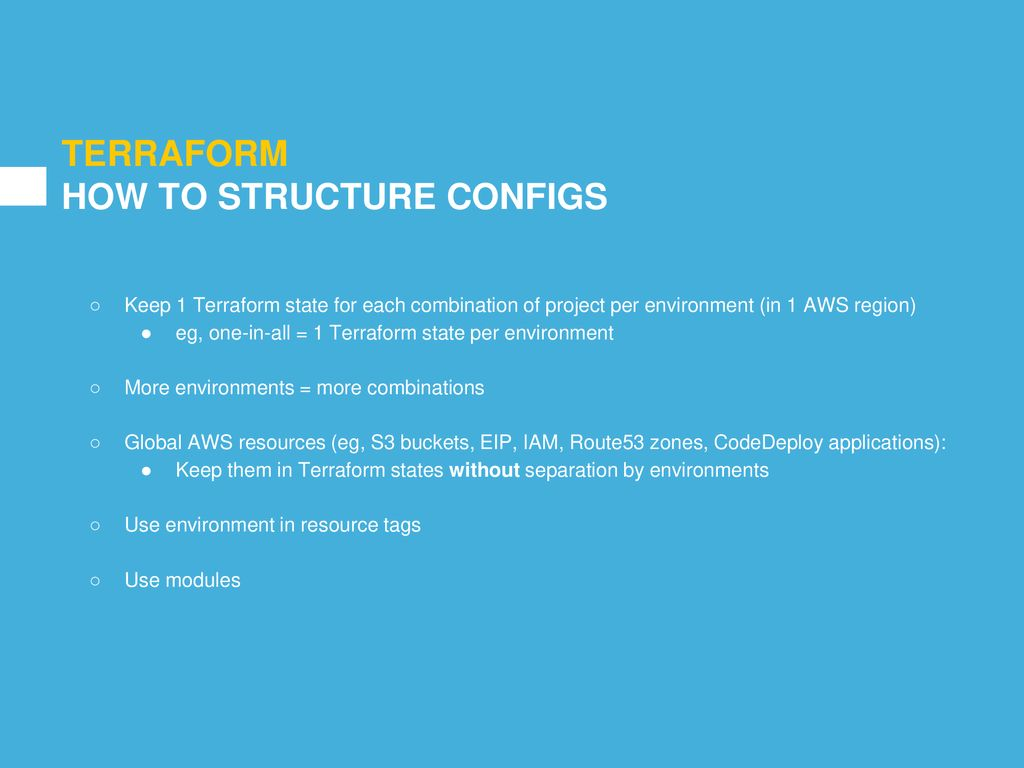 MANAGE AWS INFRASTRUCTURE AS CODE USING TERRAFORM - ppt download