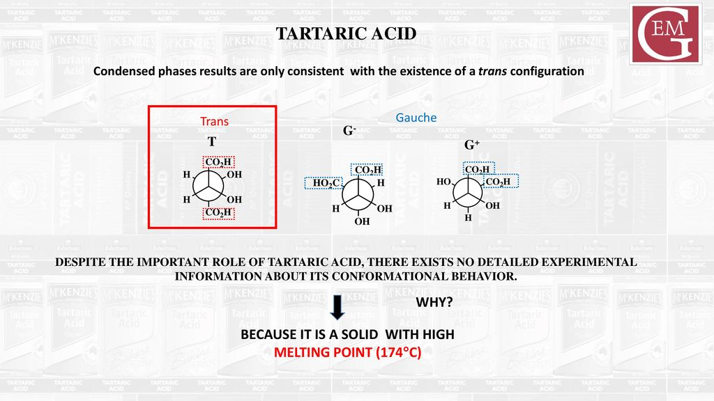 Four Structures Of Tartaric Acid Revealed In The Gas Phase Ppt