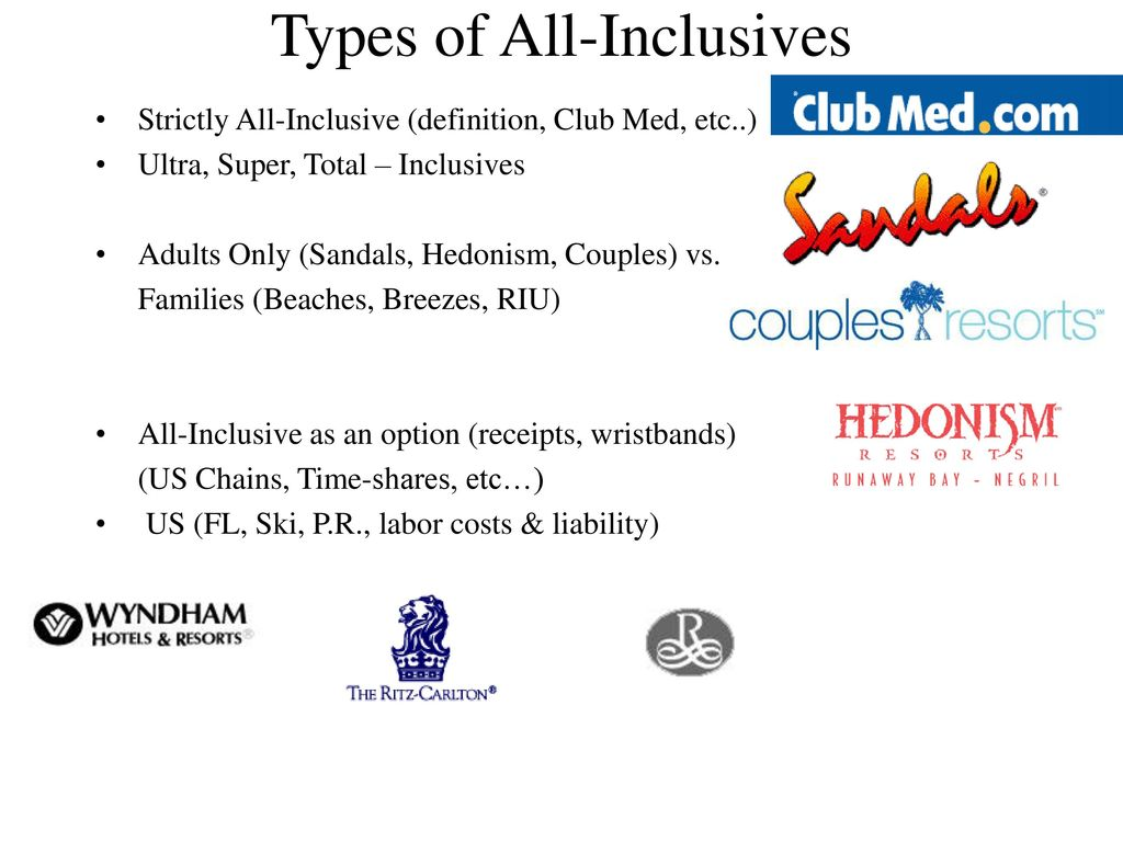 packaging resorts vs. cruises cruises vs. all-inclusives - ppt download