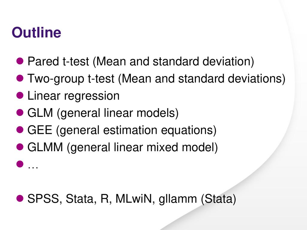 From t-test to … multilevel analyses - ppt download