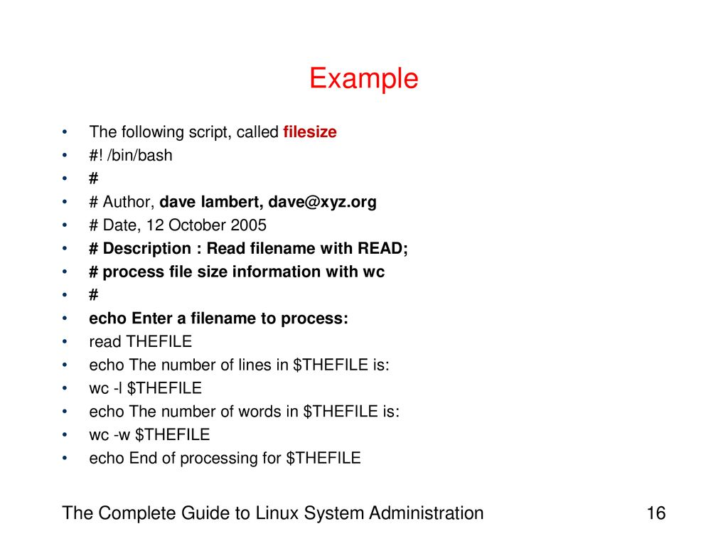 Chapter 14: Writing Shell Scripts - ppt download