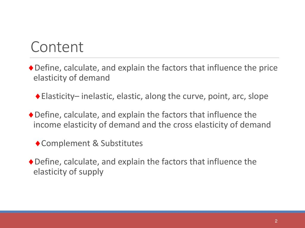 Economics September Lecture 6 Chapter 4 Elasticity Ppt Download