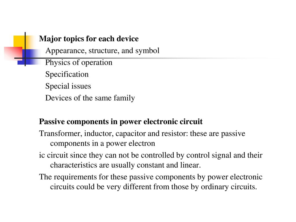 Chapter 1 Power Electronic Devices Ppt Download Mos Controlled Thyristor Mct Circuits And Diagram 6 Major