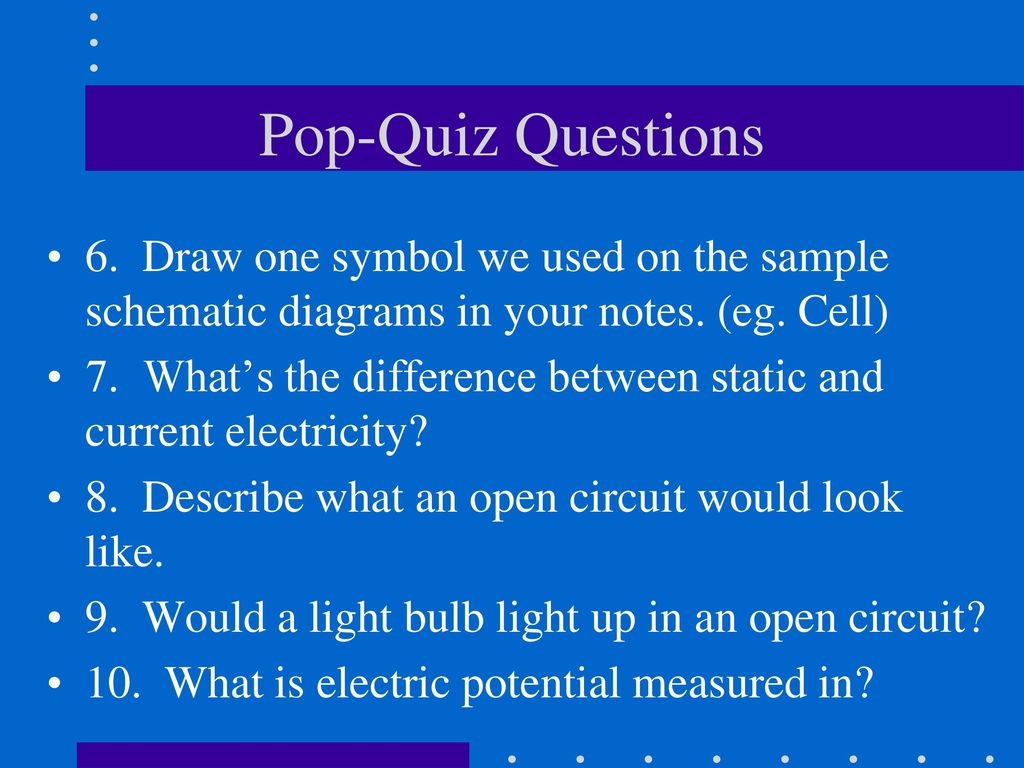 The Control Of Electricity In Circuits Ppt Download Drawing A Simple Circuit With Bulb Cell And Switch Draw One Symbol We Used On Sample Schematic Diagrams
