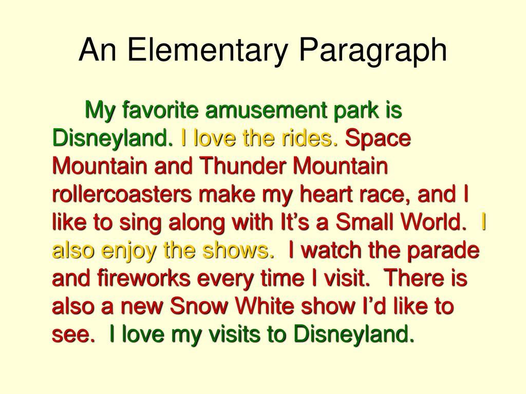 paragraph writing on visit to amusement park