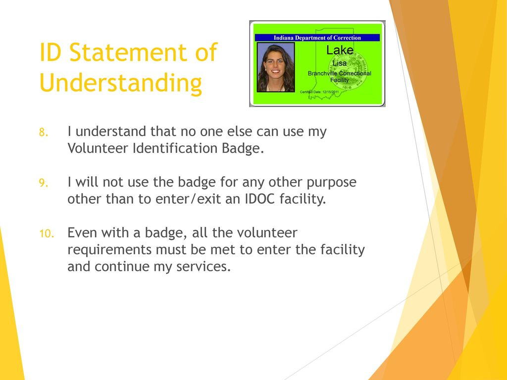 Volunteer Training Indiana Department of Correction - ppt download